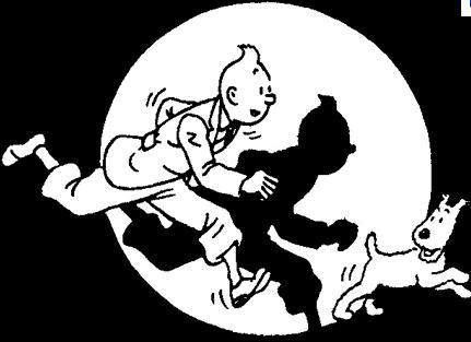 Tintín y su pichicho Milú, como Hergé los trajo al mundo.