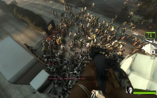 Los zombies son más parecidos a las hordas del Left For Dead.